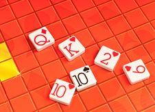 Poker Game Tiles Stock Photo