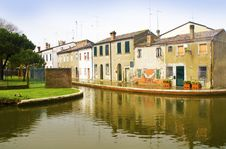 Houses On The River Stock Photography