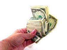 Free Woman Holding Money Stock Photography - 13784972