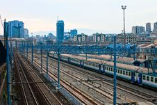 Free Train And Skyline Royalty Free Stock Photos - 13785638