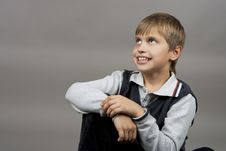 Happy Young Teenager Boy Royalty Free Stock Photography