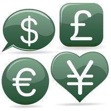 Money Icons Stock Photography
