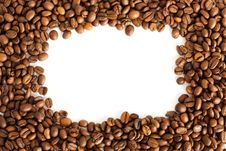 Free Frame Of Coffee Beans Royalty Free Stock Photography - 13787347