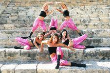 Modern Dancers Royalty Free Stock Image