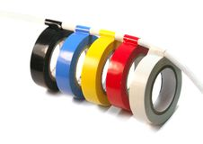 Adhesive Tape On The Wire Royalty Free Stock Images