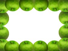 Frame Of Green Apples Royalty Free Stock Photo