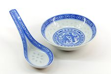 Chinese Disc And Spoon Stock Photo