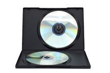 Free Open Box With Disks Isolated On A White. Stock Photography - 13788012