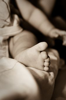 Free Baby Feet Royalty Free Stock Photo - 13788105