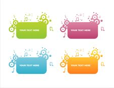 Free Set Of 4 Musical Frames Stock Images - 13788384