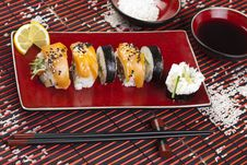 Free Complete Sushi Meal Royalty Free Stock Photography - 13788607
