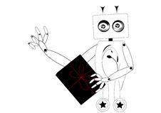 Free Robot Sending A Gift Royalty Free Stock Photo - 13788895