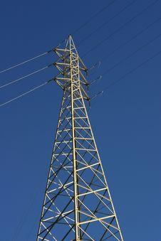 Big Electricity Post Stock Photo