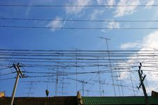 Group Of Electricity Post Stock Photos