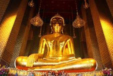 Free Gold Buddha Image Royalty Free Stock Photos - 13789128