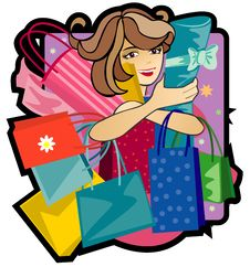 Free Woman With Purchases Royalty Free Stock Photography - 13789177