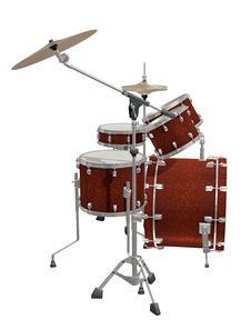 Free Drum Kit Isolated On A White Royalty Free Stock Image - 13789236
