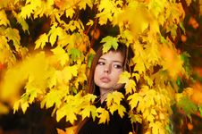 Free Autumn Girl Stock Photography - 13789402