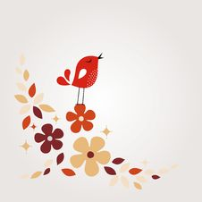 Free Sweet Bird Card Design Stock Images - 13789834