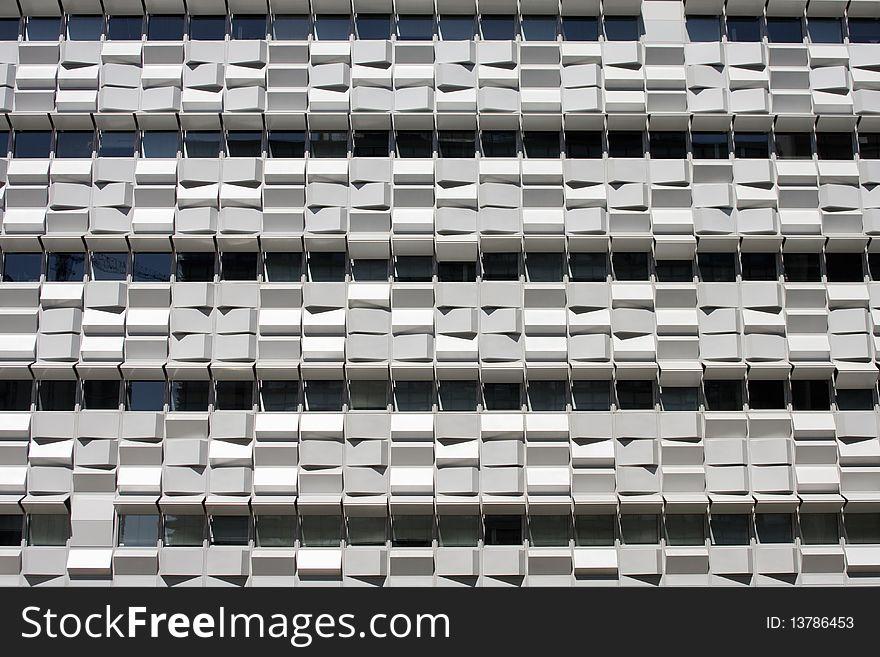 Facade detail of building