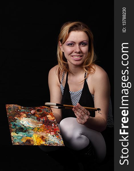 Artist with palette