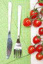 Free Fork Knife And Tomatoes Stock Image - 13794471