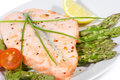 Free Grilled Salmon Royalty Free Stock Photography - 13795277