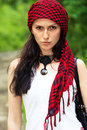 Free Girl In A Red Kerchief Royalty Free Stock Photo - 13798995