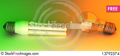 Free Light Bulbs Stock Images - 13792574