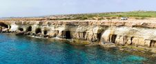 Free Sea Caves Panorama Royalty Free Stock Photo - 13790255