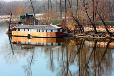 Free Small Building And It Reflection On The Dniper Riv Stock Photos - 13790383