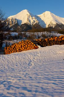 Mountains Of Belianske Tatry Stock Photography