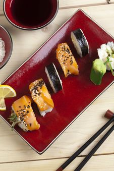 Free Complete Sushi Meal Stock Photography - 13790772
