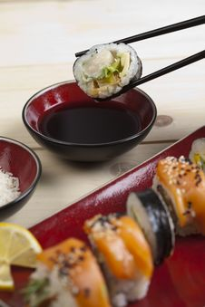 Free Complete Sushi Meal Royalty Free Stock Photo - 13790835