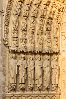 Free Notre Dame, Paris (France) - Bas Reliefs Royalty Free Stock Photography - 13791007