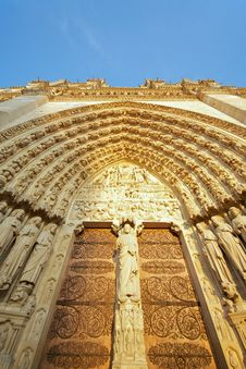 Free Notre Dame, Paris (France) - Main Entrance Royalty Free Stock Photos - 13791038