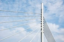Free Bridge Cable Wires Royalty Free Stock Photography - 13791207