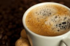 Free Cup Of Coffee Royalty Free Stock Image - 13791326