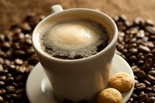 Free Cup Of Coffee Stock Photo - 13791350
