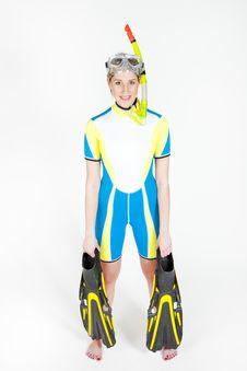 Free Woman Wearing Neoprene Stock Images - 13791574