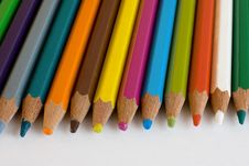 Free Assortment Of Coloured Pencils Royalty Free Stock Images - 13791759