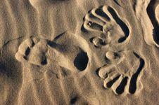 Free Footprint On Sand Stock Image - 13792081