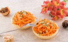 Free Carrot Salad In A Basket Stock Photo - 13792100