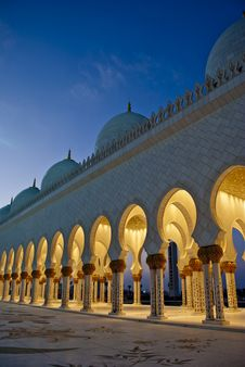Free Arches At A Mosque Royalty Free Stock Photography - 13792267