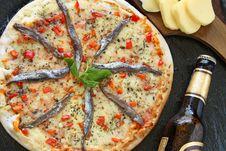 Free Anchovies Pizza Royalty Free Stock Image - 13792356