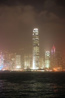Free Hong Kong S Skyline At Night Royalty Free Stock Image - 13792366