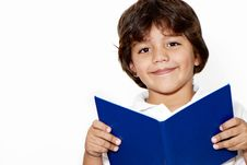 Free The Schoolboy With The Book In Hands Royalty Free Stock Image - 13792506