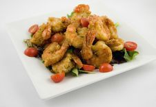 Free Fried Shrimp Platter Royalty Free Stock Photography - 13792687