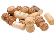 Close-up  Wine Corks Isolated On White