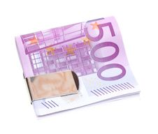 Free Five Hundred Euro Banknotes Isolated On White Royalty Free Stock Images - 13793069